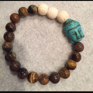 Good Luck Buddha gemstone bracelet
